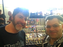 At the Buchla booth with Mr. Doty